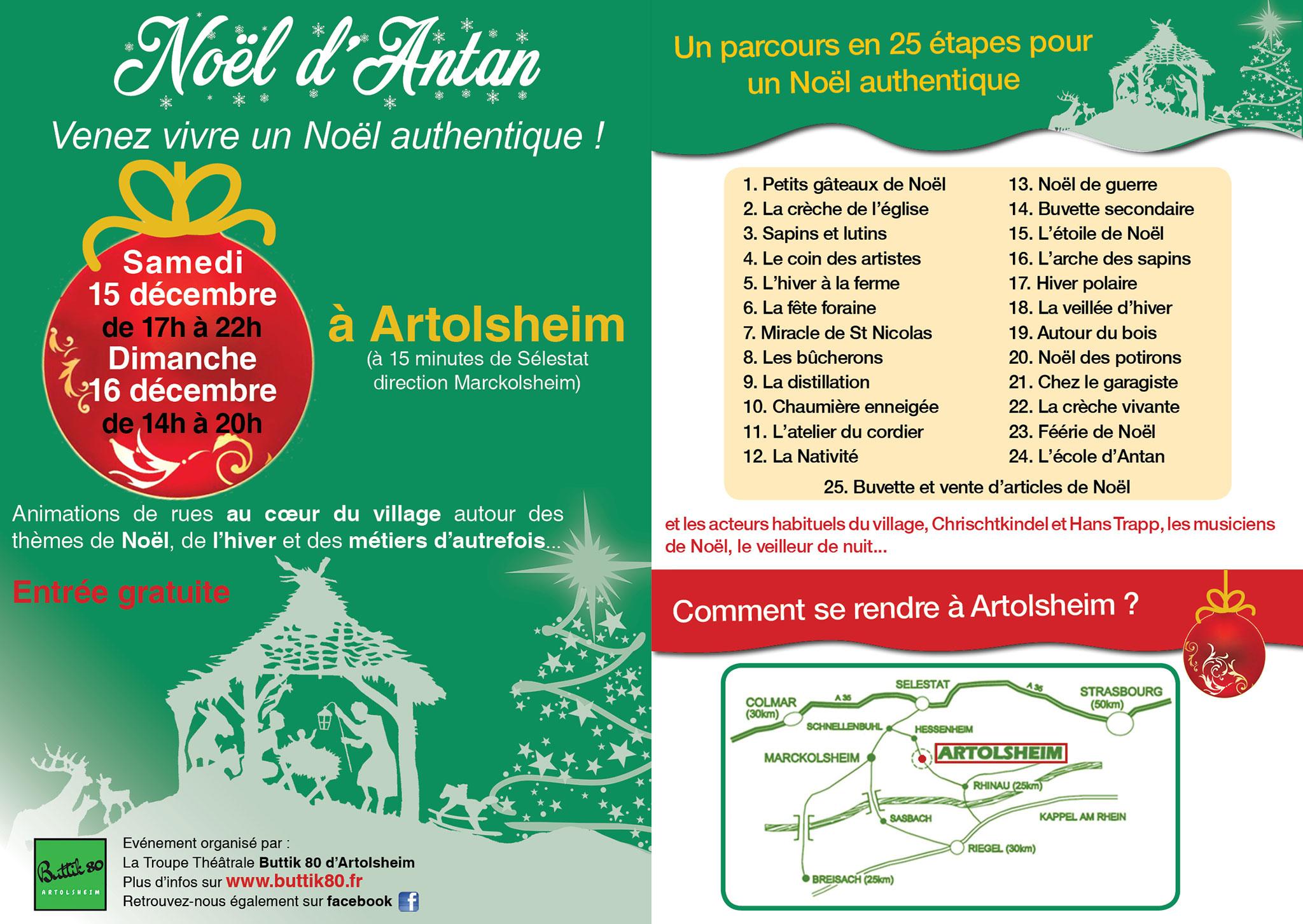Flyer Noël Antan 2018